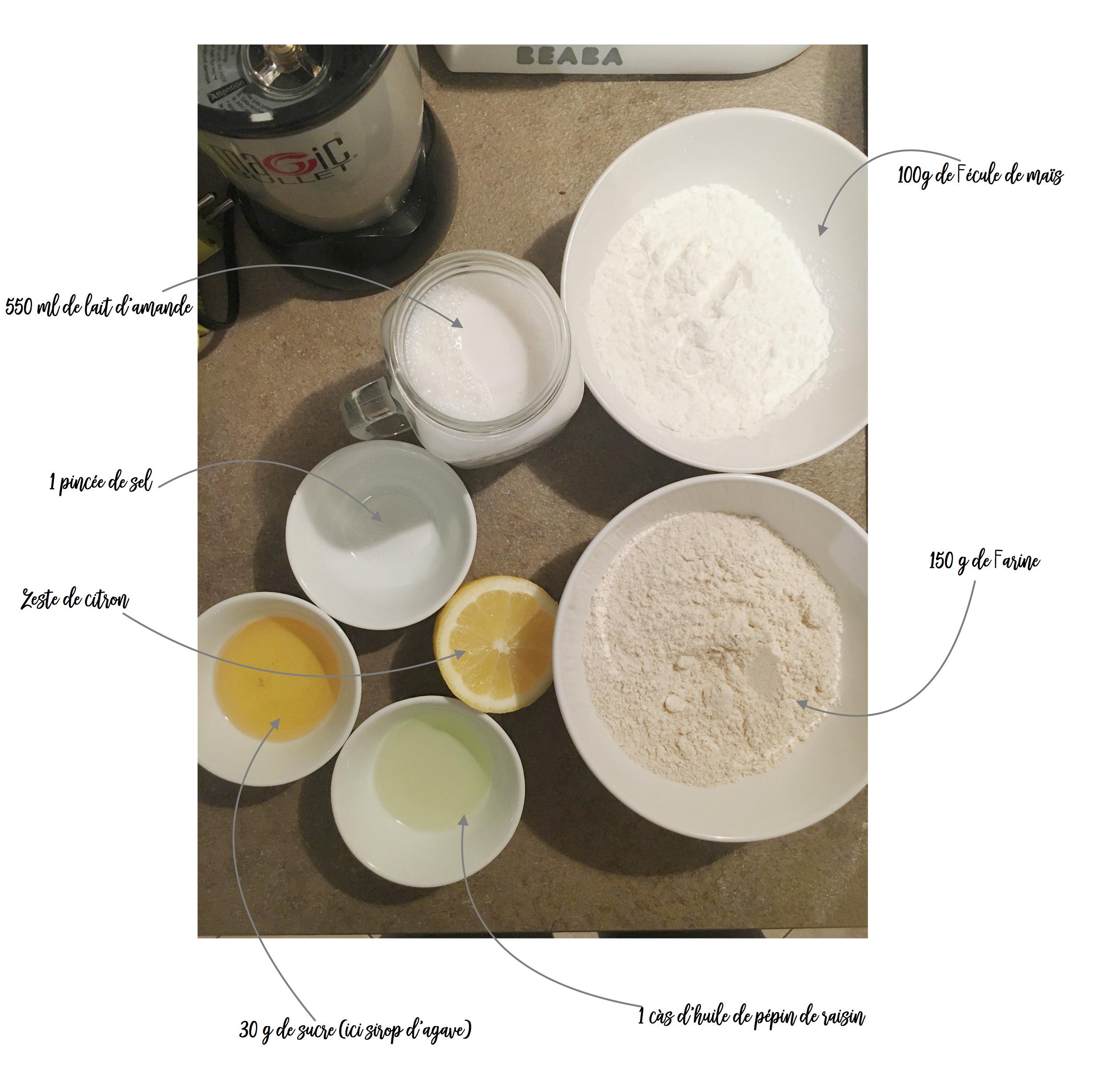 ingredients crepes