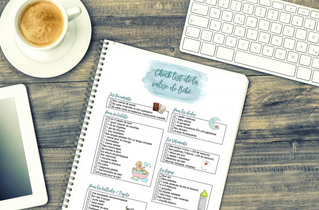 photo blog checklist valise bebe
